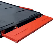 40 cm height rear platform for the whole width