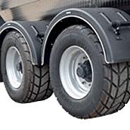 Rear steering axle
