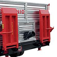 Rampe per salita trattori cingolati manuale con piantoni a terra