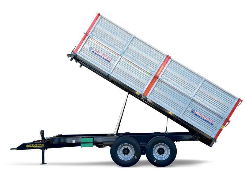 Trilateral hydraulic tilting system bi axle Trailer. Up to 14.000 kg capacity