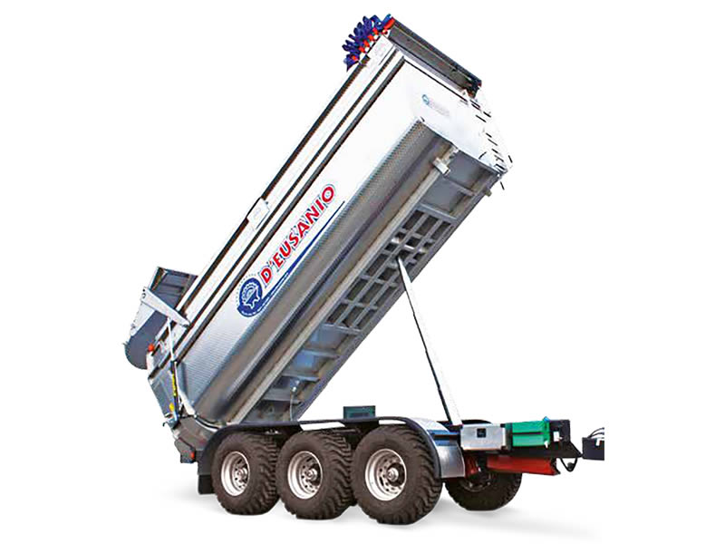 Dumper trailer for transport fitted with rear Hydraulic tilting system. Up to 20.000 kg capacity