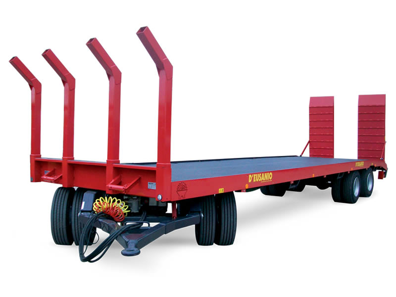Fixed platform trailer with front fifth wheel Coupling device. Up to 20.000 kg capacity