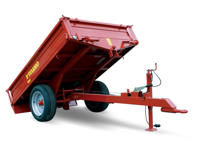 Single axle trailer with mechanical tilting System. Up to 1.800 kg capacity