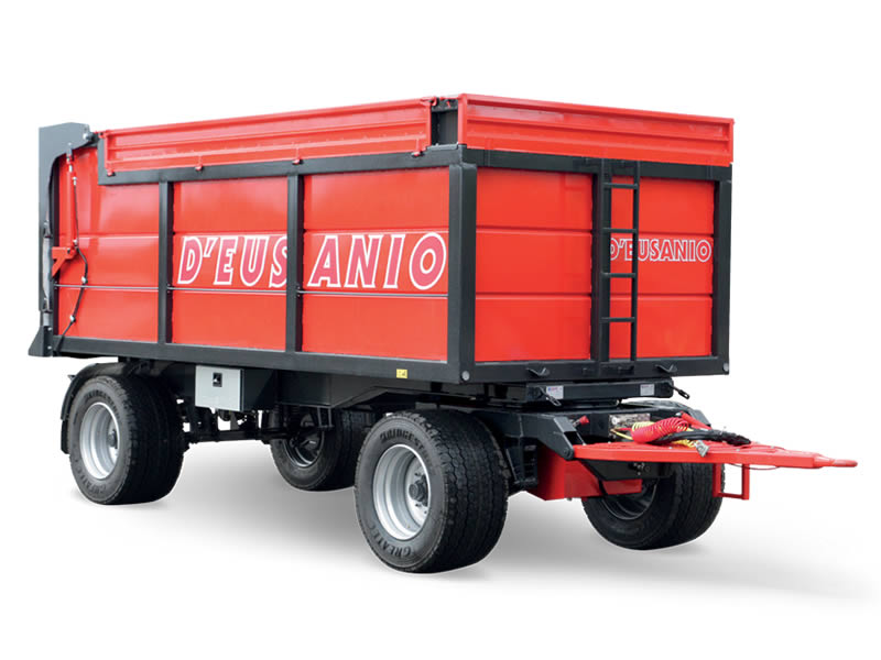 Farming trailer rear titlting tank. Up to 14.000 kg capacity