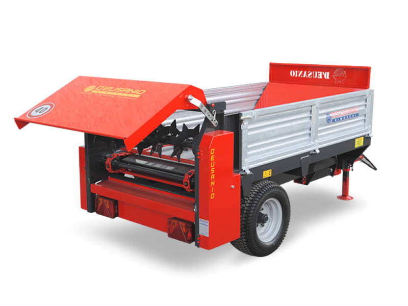Manure spreader single axle trailer. Up to 6.000 kg capacity
