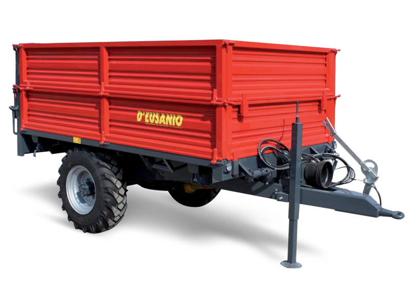 Engine single axle trailer with trilateral Titlting system. Up to 6.000 kg capacity