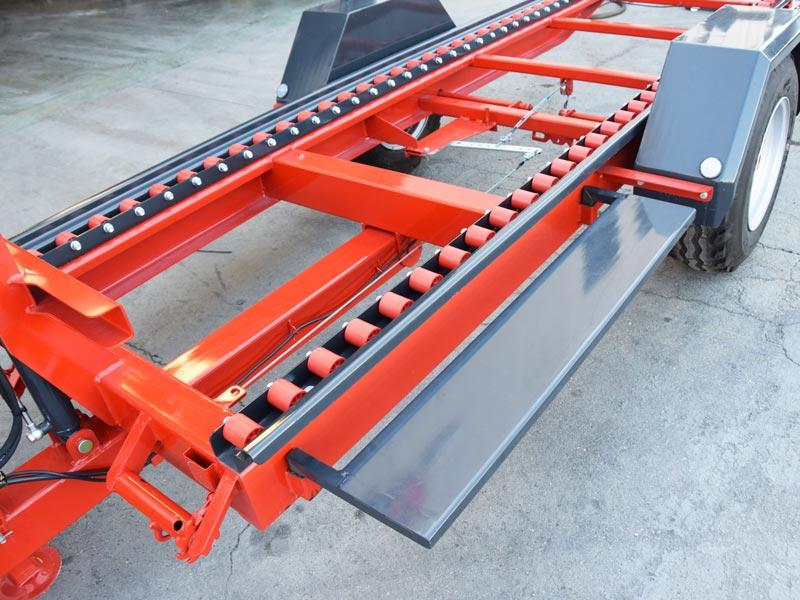 Rimorchio monoasse per trasporto cassoni a pianale for Rimorchio doppio uso usato