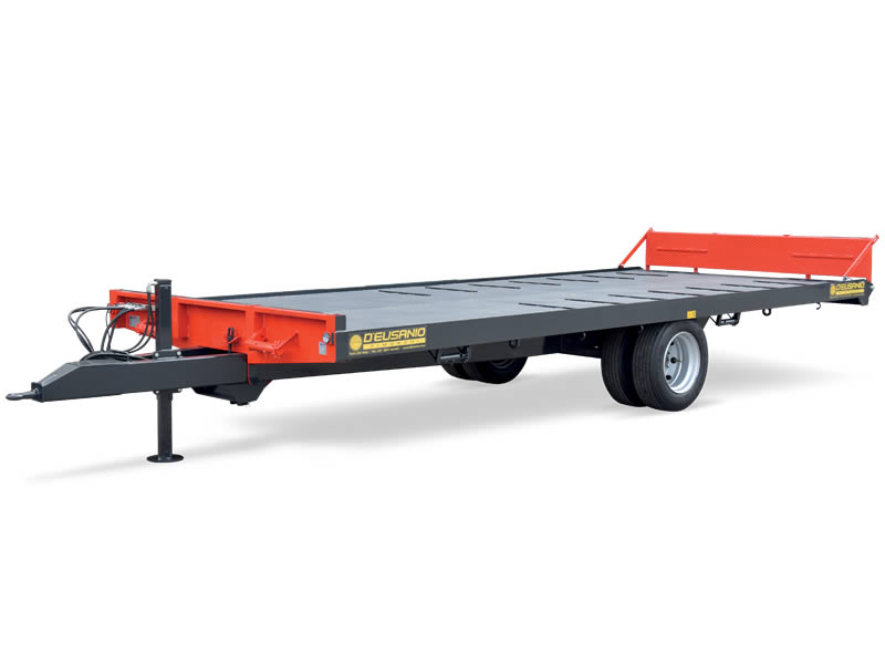 Platform trailer for farming machines and bales Transport. Up to 6.000 kg capacity