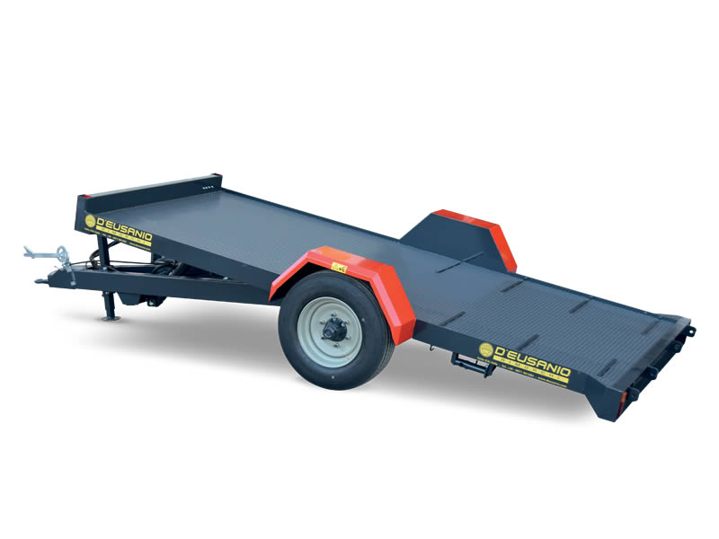 Low platform trialer and external wheels. For farming Crawler machines. Up to 5.000 kg capacity