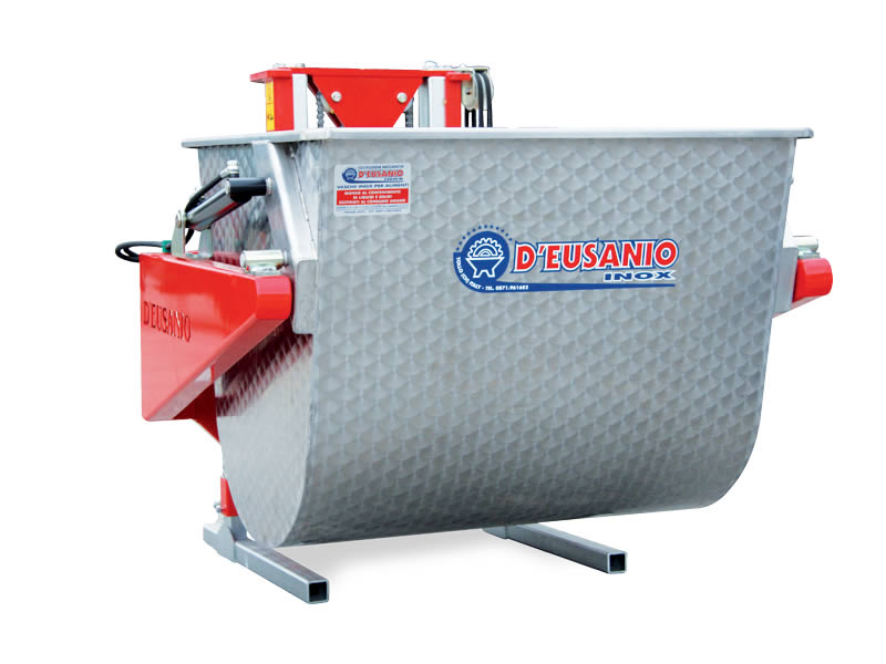 Hydraulic lift with stainless steel grape container